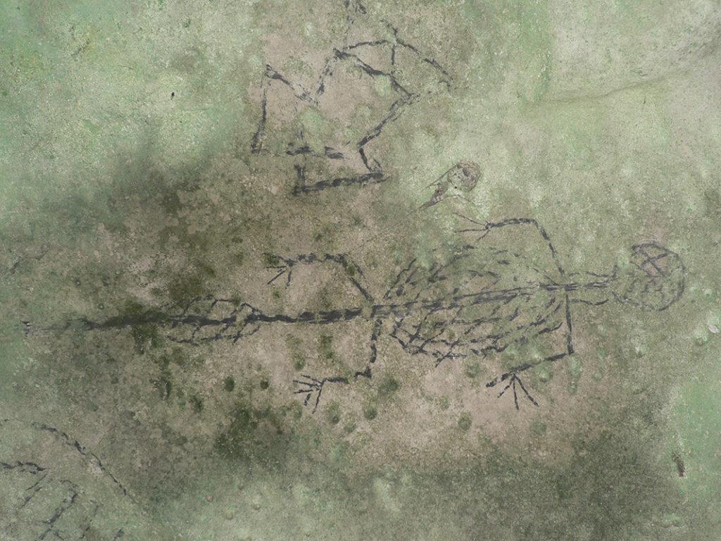 Lacertiforme dans l'abri orné de Ndekwa.